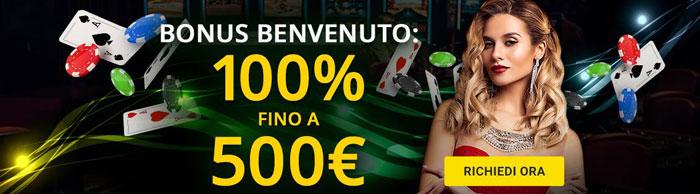bonus benvenuto 1bet casino