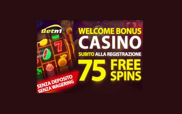 betn1 bonus 75 free spins senza deposito