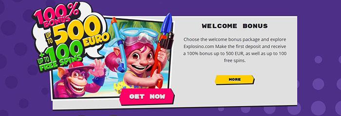 explosino welcome bonus